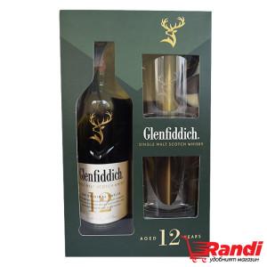 Уиски Glenfiddich 12г. 700мл.+2чаши