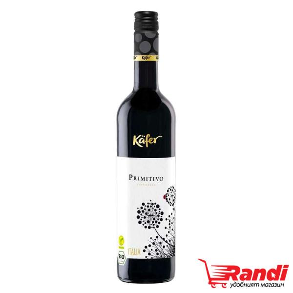 Вино Kafer Primitivo Bio Italia 750мл.