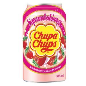 Газирана напитка Chupa Chups ягода и мляко 345мл.