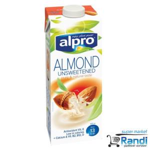Бадемова напитка Alpro Almond неподсладена 1л.