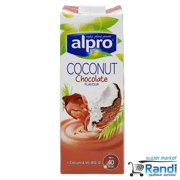 Кокосова напитка Alpro с шоколад 1л.