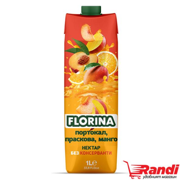 Нектар Florina портокал, праскова, манго 1л.