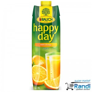 Сок от портокал 100% Rauch - Happy Day 1л.