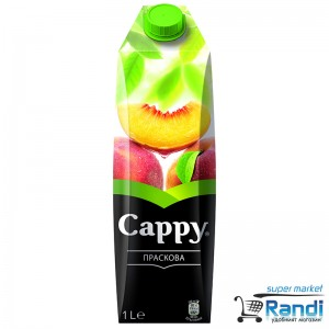 Плодова напитка Праскова  Cappy 1л.