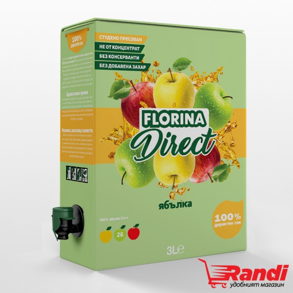 Директен сок Florina ябълка 3л.