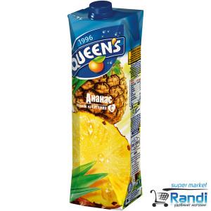 Плодова напитка от Ананас Queen's 1л.