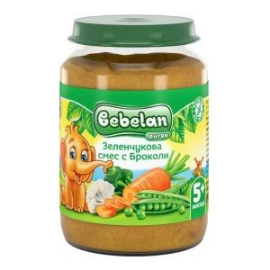Пюре зеленчукова смес с броколи 5+месеца Bebelan 190гр.