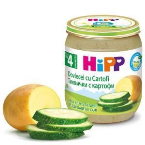 Пюре с био тиквички и картофи без сол Hipp 125гр.