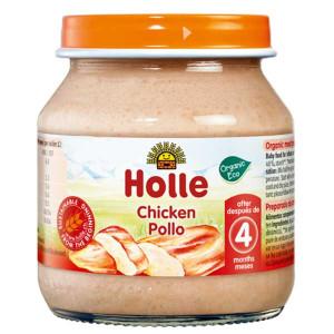 Био пюре с пилешко месо за 4 месеца Holle 125гр.