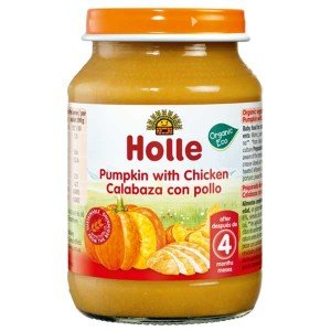 Био пюре тиква с пилешко месо за 4 месеца Holle 190гр.