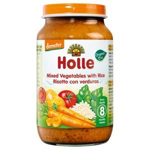 Био пюре ризото с зеленчуци за 8 месеца Holle 220гр.
