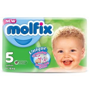 Пелени Molfix 5 junior(11-18кг.) 44бр.