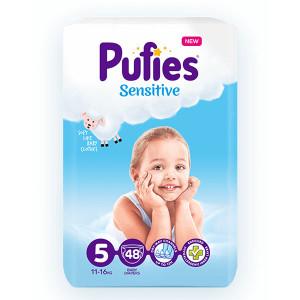 Пелени Pufies 5 Sensitive 11-16кг 48бр.