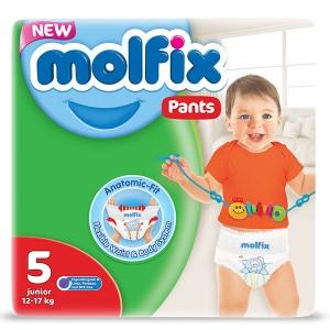 Пелени-Гащички Molfix 5 junior Pants (12-17кг.) 48бр.