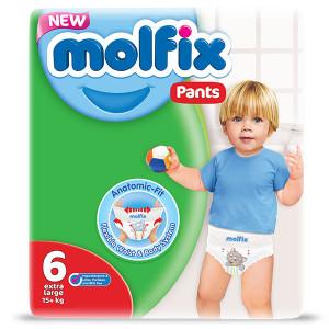 Пелени-Гащички Molfix 6 Pants (+15кг.) 42бр.
