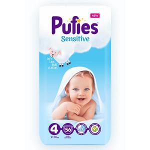 Пелени Pufies 4 Sensitive 9-14кг 56бр.