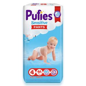 Пелени-Гащички Pufies 4 Sensitive Pants 9-15кг 46бр.