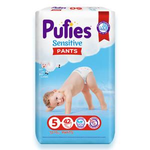 Пелени-Гащички Pufies 5 Sensitive Pants 12-17кг 42бр.
