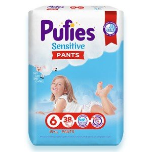 Пелени-Гащички Pufies 6 Sensitive Pants 15+кг 38бр.