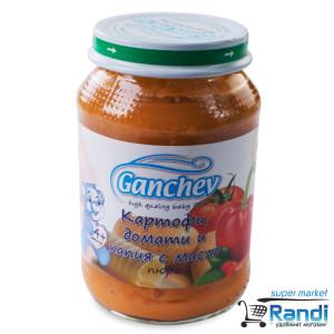 Пюре от картофи домати и капия с масло Ганчев 190гр.