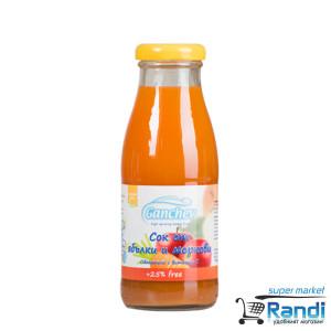Сок от ябълки и моркови 4+ месеца Ганчев 250мл.