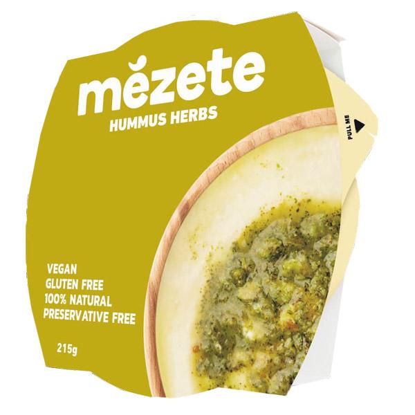 Хумус от нахут със сусамов тахан и билки Mezete 215гр.