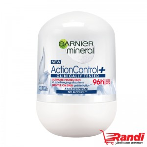 Рол-он Action Control Clinically tested 96h Garnier mineral 50мл.