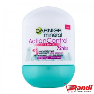 Рол-он Action Control Thermic 72h Garnier mineral 50мл.