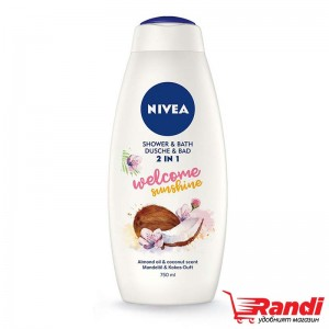 Душ гел Nivea 2в1 Welcome Sunshine 750мл.