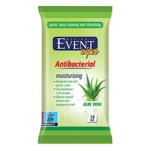 Влажни кърпички Event Antibacterial Aloe vera 15бр.