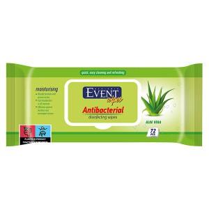 Влажни кърпички Event Antibacterial Aloe vera 72бр.