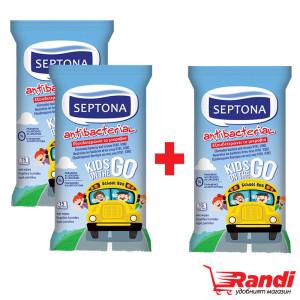 Мокри кърпички антибактериални KIDS Septona 2+1