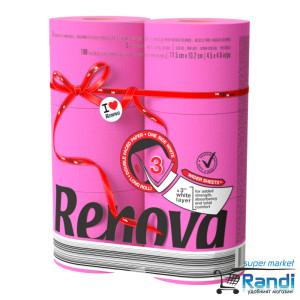 Тоалетна хартия Renova цикламена 6бр.