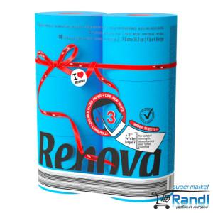 Тоалетна хартия Renova синя 6бр.