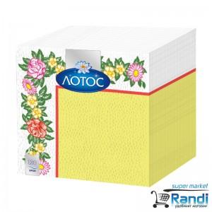 Салфетки Лотос цветни 100бр.