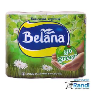 Тоалетна хартия Белана Go green 4бр.3пл.