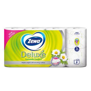 Тоалетна хартия Zewa Deluxe Camomile Comfort 8бр.