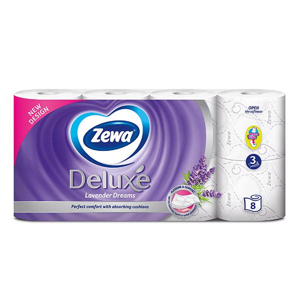 Тоалетна хартия Zewa Deluxe Lavender 8бр.