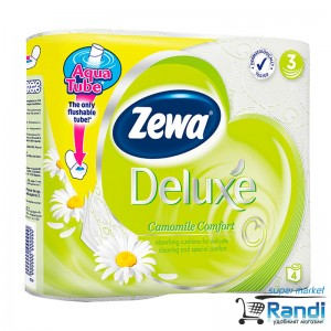 Тоалетна хартия Zewa deluxe Camomile Comfort- лайка 4бр.