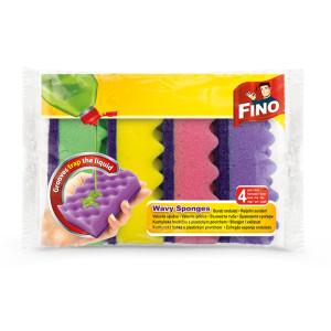 Гъба за съдове Fino вълни 4бр.