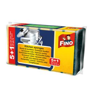 Гъба за съдове Fino 5+1бр.
