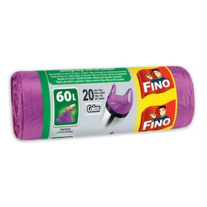 Чували за смет лилави Fino 60л. 20бр.