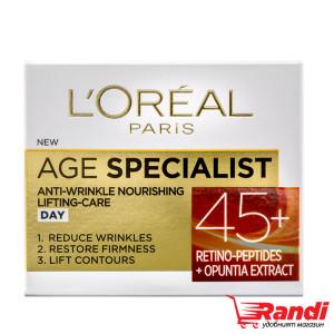 Крем за лице L`Oreal Age Specialist 45+ дневен 50мл.