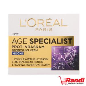 Крем за лице L`Oreal Age Specialist 55+ нощен 50мл.