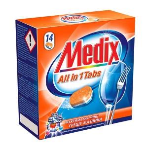 Таблетки за съдомиална Medix All in one 14бр.