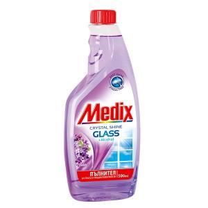 Препарат за прозорци резерва Medix люляк 500мл.