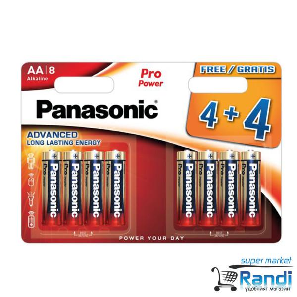 Батерии Panasonic LR6 Pro AA Alkaline 4+4бр.