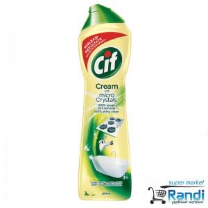 Почистващ крем Cif Cream with micro Crystals 500мл.лимон