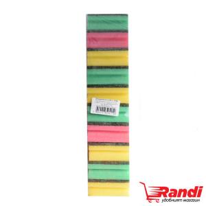 Гъба канал опаковка различни цветове 10бр.