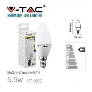 Светодиодна лампа LED 5.5W= 40W Е14 SKU42151